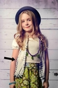 Jak and Peppar Felicity Button Down Top for Tween Slate Dazed