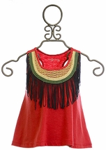 Jak and Peppar Fringe Down Crop Tank Top