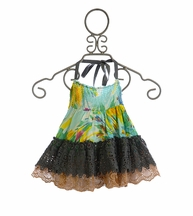 Jak and Peppar Garden Print Laney Skirt (4T,4,6,6X,8,12)