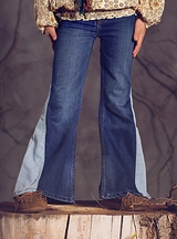 Jak and Peppar Girls Bell Bottom Jeans Patchwork Theory (Size 14 & 16)
