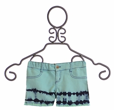 Jak and Peppar Girls Cutoff Shorts Aqua Dazed