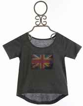 Jak and Peppar Girls Highline Crop Tee British Blue