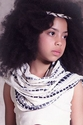 Jak and Peppar Girls Scarf in Vanilla and Gray