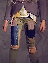 Jak and Peppar Girls Skinnies in Olive with Patch (8 & 16)