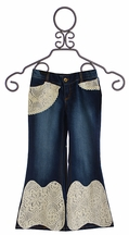 Jak and Peppar Girls Theory Bell Bottoms with Lace (Size 16)