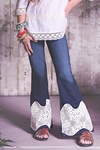 Jak and Peppar Girls Theory Bell Bottoms with Lace