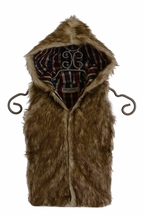 Jak and Peppar Gladiator Hooded Vest Faux Fur