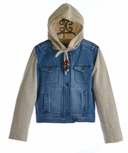 Jak and Peppar Hickman Girls Denim Jacket (Size 12)