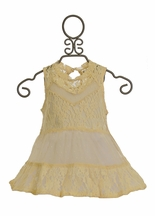 Jak and Peppar Ivory Lace Top Sleeveless (2T,3T,4,5,6,6X)