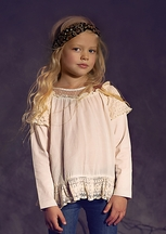 Jak and Peppar Ivory Ophelia Blouse for Tweens (2T, 4, 5, 12, 14)