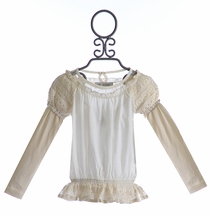 Jak and Peppar Ivory Ophelia Blouse for Tweens (2T,5,12,14)