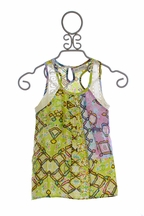 Jak and Peppar Jonah Tunic for Girls Spring Green