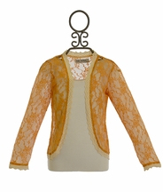 Jak and Peppar Lacey Days Jacket Gold (4T,4,5,6,6X)
