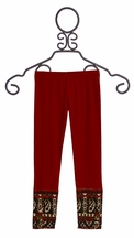 Jak and Peppar Laney Leggings Crimson (3T,5,7)