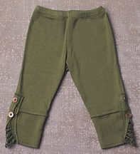 Jak and Peppar Leggings for Girls in Olive Green