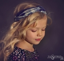 Jak and Peppar Navy Head Wrap for Tweens Gertrude