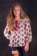 Jak and Peppar Peasant Top for Girls Chloe