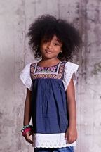 Jak and Peppar Presley Girls Tunic with Flutter Sleeves