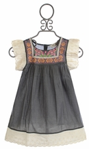 Jak and Peppar Presley Girls Tunic with Flutter Sleeves (Size 14)