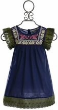 Jak and Peppar Presley Tunic Girls in Navy