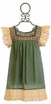Jak and Peppar Presley Tunic in Olive Green (2T,4,6X,14)