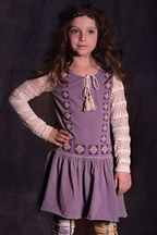 Jak and Peppar Purple Tunic with Lace Sleeve
