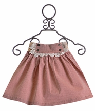 Jak and Peppar Railroad Skirt for Girls in Red Gertie (8, 12 & 16)