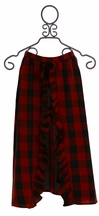 Jak and Peppar Red Plaid Maxi Skirt (4,14,16)