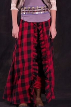 Jak and Peppar Red Plaid Maxi Skirt