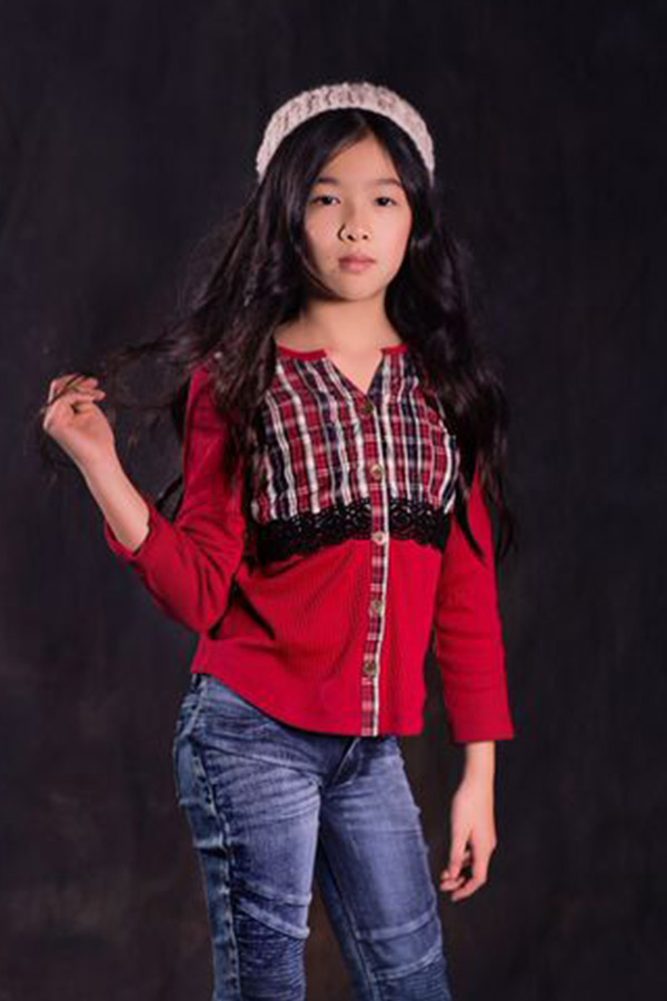 Jak And Peppar Red Plaid Top Preorder