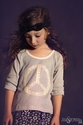 Jak and Peppar Rock on Raglan Girls Top with Peace Sign (Size 16)