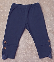 Jak and Peppar Romy Leggings for Girls in Navy Blue