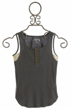 Jak and Peppar Skid Row Tank for Tweens in Gray