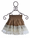 Jak and Peppar Skirt for Tweens in Vanilla Burlap Laney (Size 8)