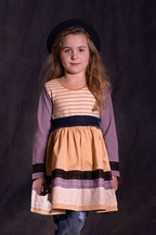Jak and Peppar Stripe Dress Golden Vanilla