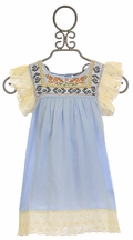 Jak and Peppar Tunic for Girls Presely Spa Blue
