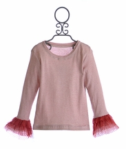 Jak and Peppar Tween Top for Girls in Red Lace (14)