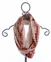 Jak & Peppar Girls Infinity Scarf in Burnt Red (Size Large 7-16)