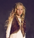 Jak & Peppar Tween Fur Vest with Plaid Lining
