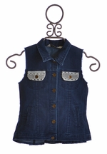 Jak & Peppar Tween Jean Vest Dark Wash (Size 16)