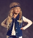 Jak & Peppar Tween Jean Vest Dark Wash