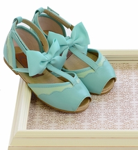 Joyfolie Avery Girls Shoes in Seaglass Blue