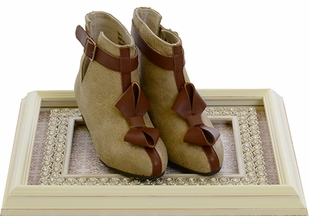 Joyfolie Dahlia Booties for Girls in Tan