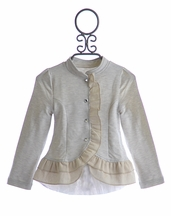 Joyfolie Designer Girls Ruffle Jacket Spencer (Size 5)