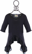 Joyfolie Dylan Top in Gray (2T,7,10)