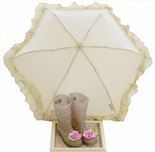 Joyfolie Felicity Rain Boots in Tan Lace with Umbrella