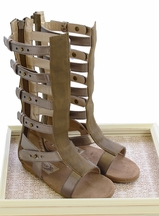 Joyfolie Finley Fossil Gladiator Sandals for Girls (13,1,2,3)