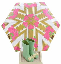 Joyfolie Girls Rainboots in Spring Green with Umbrella