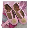 Joyfolie Glitter Flats for Girls in Pink Londyn