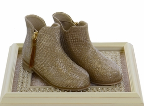 Joyfolie Gold Booties for Girls Kaitlin